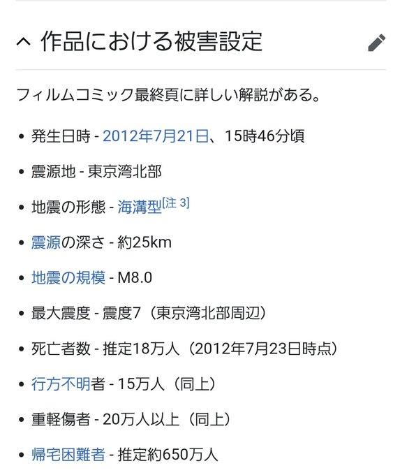東京マグニチュード8.0の被害想定wwwwwwwwwww