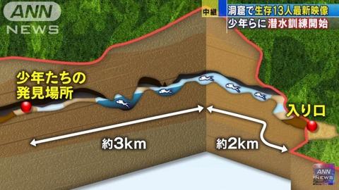 【速報】 タイ洞窟から2人救出と報道