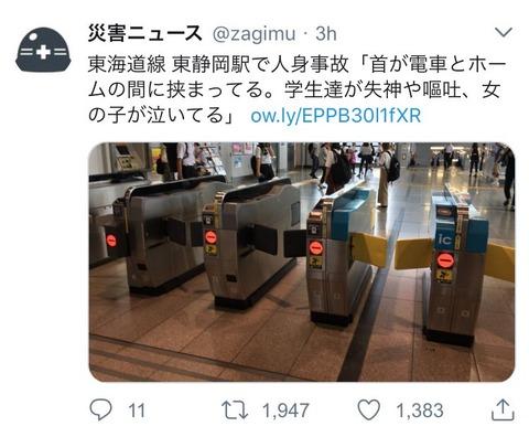 【画像】JR東静岡駅で地獄絵図、阿鼻叫喚