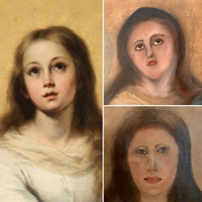 【画像】「絵画の修復して」→「全く違う💢元に戻して」→wwwwwwwwww