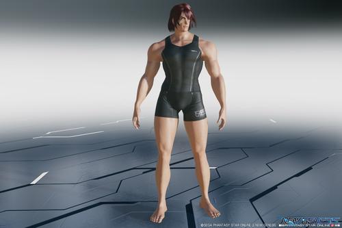 ファンタシースターオンライン2:ニュージェネシス・ヒト型タイプ1(男性型)体型モデル3