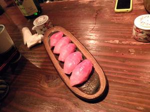 和浦10周年 マグロ寿司