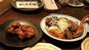 和浦 唐揚げ・肉豆腐