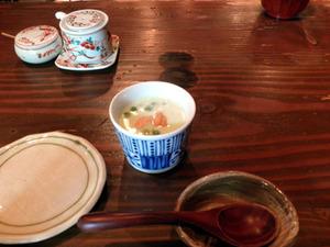いづみ橋勉強会、枝豆スープ