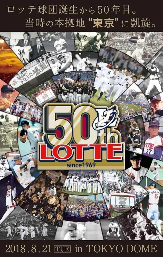 ロッテ 21日西武戦でオリオンズ誕生50年記念誌配布