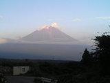富士山日没前