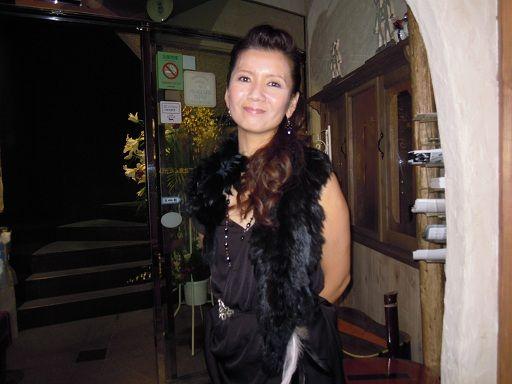 終演後の桑田靖子さん