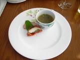 「お昼の軽いコース」前菜&スープ