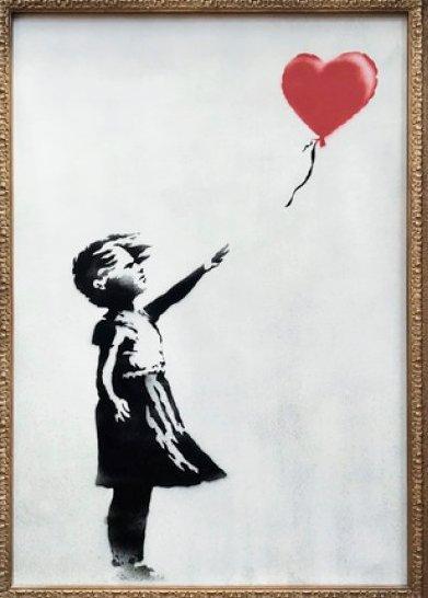 「バンクシー 風船と少女」の画像検索結果