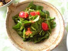 ほうれん草とトマトのおろしにんじんサラダ