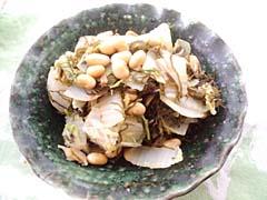 白菜と大豆の旨塩蒸し