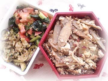 ごぼうと豆腐の花椒味噌炒め弁当
