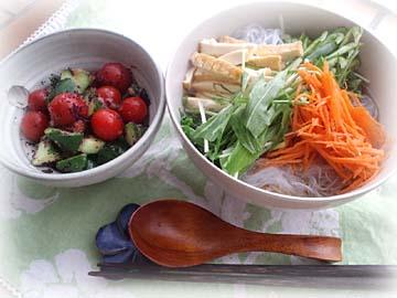 春雨冷麺のブランチ