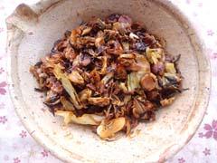 打豆・ひじき・キャベツの甜麺蒸し