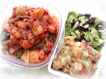テンペ・チリトマ丼弁当