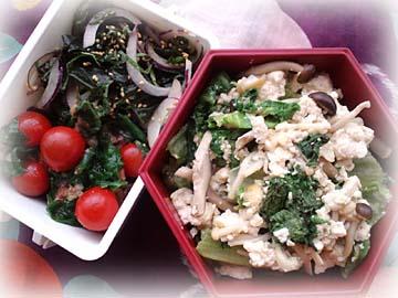 レタスと豆腐の生姜ナンプラー丼弁当