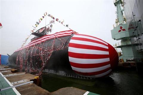 【海自】最新鋭潜水艦・「凰龍」(おうりゅう)進水式 リチウムイオン電池を世界で初めて装備