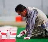 韓国インターナショナルサーキット人工芝職人