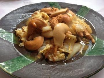 ホタテの子と白菜の梅生姜煮