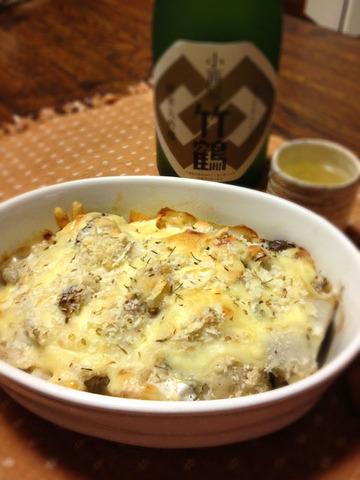 里芋と鱈の酒粕グラタン