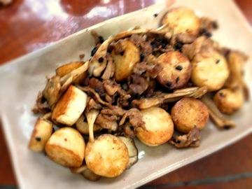 豚肉と大和芋の豆鼓炒め