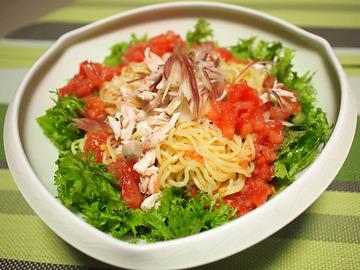 トマトとナンプラーのたれで!ゆき流ヘルシー冷やし麺