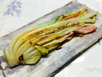 白菜とベーコンのミルフィーユステーキ