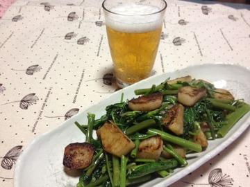 長芋と空芯菜のナンプラー炒め