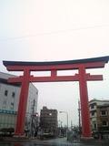 太閤通の豊国神社入口にある大鳥居