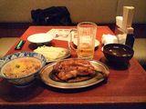 骨付鳥&とりめし&鳥スープ&キャベツ&ビール