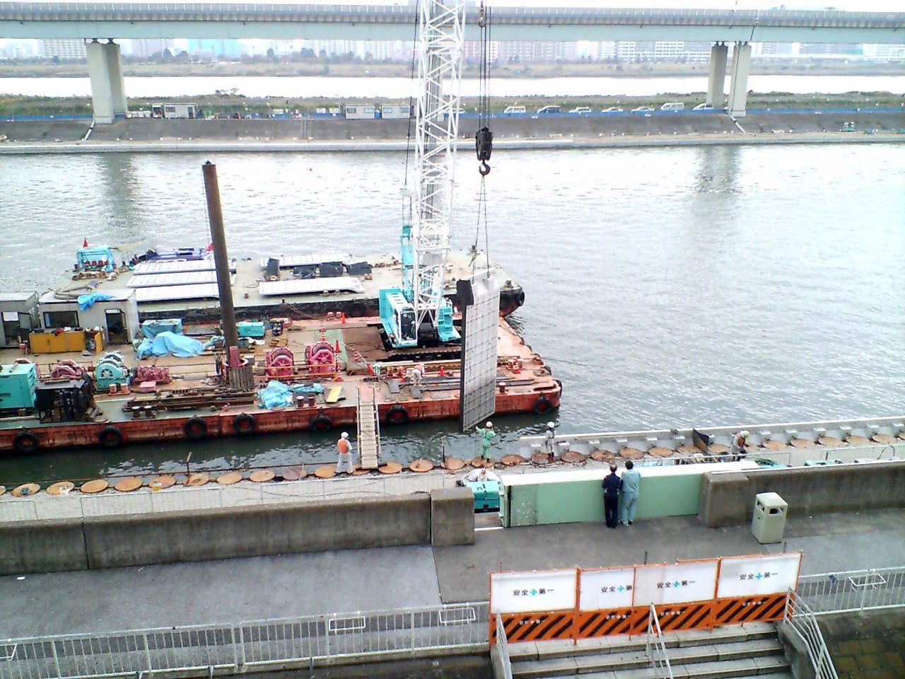 11月15日時点の護岸工事進捗状況