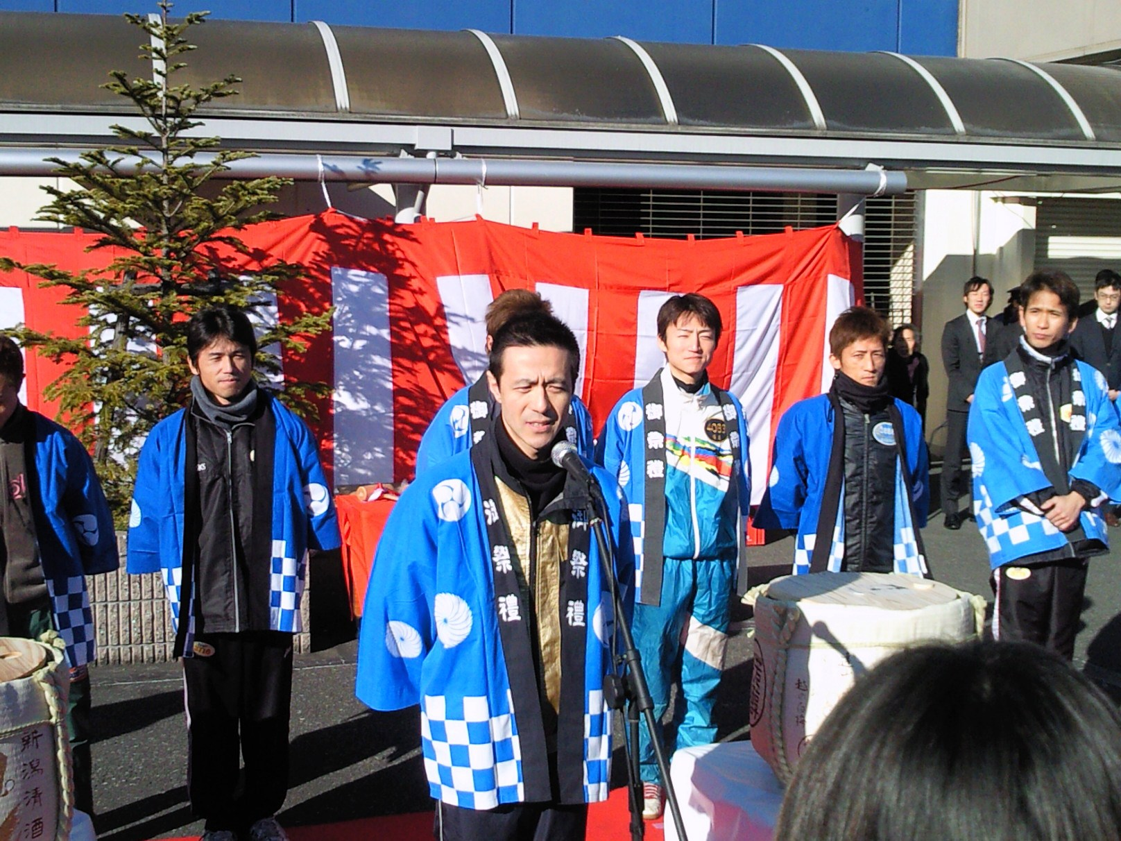 1月2日に江戸川競艇で新年の挨拶をしたしげしげ
