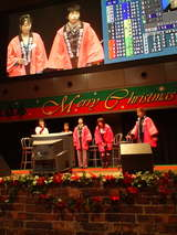 埼玉支部女子選手トークショー終了。ここでゆうこりんは彩輝会Tシャツの宣伝。