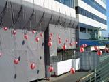 外壁の緑化工事中だった大江戸賞開催時