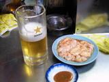サッポロ生ビールと生シロコロホルモン