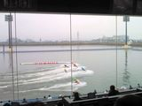 桐生競艇インペリアルビュー プライベートシートから見た水面