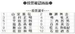 当選は白井と峰竜太