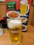 日高屋のキリン一番搾り生ビール
