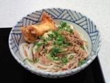丸亀製麺の肉ぶっかけ(小)+かしわ天