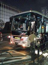2008年3月、新宿西口でルミナス号発車現場を撮影。