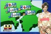 明日のお天気を伝える田島さん