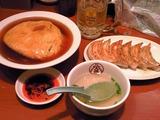 3日前に食べた餃子と天津飯