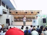 サウンド・オブ・ミュージックをPRする江夏満