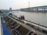 いよいよ大時計や空中線も設置された江戸川競艇