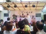 念願の江戸川公開勝利者インタビューを受けるカマギー