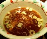 2006/12_武骨外伝_温玉肉餡かけつけそば_スープ