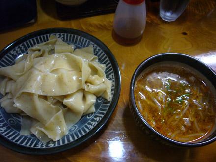 わさらび(2):平打ち包丁切り麺