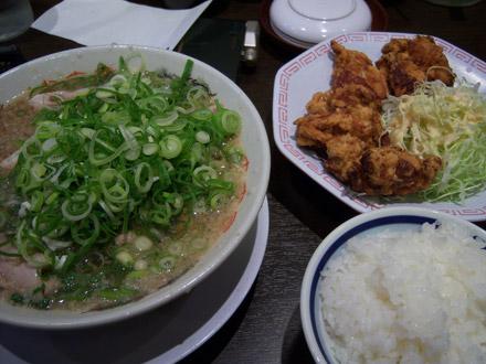 来来亭(3):唐揚げ定食+チャーシュー
