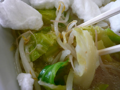 スノーダルマ食堂:スノーラーメン:野菜