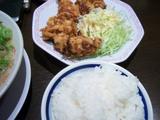 来来亭(3):ご飯と唐揚げ